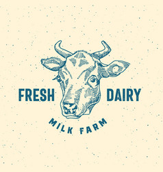fresh dairy milk farm abstract sign symbol vector image vector image