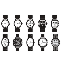 Icon set clocks vector image