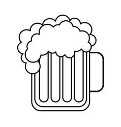 beer glass beverage isolated icon vector image vector image