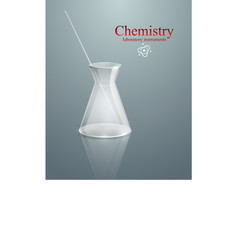 Chemistry glass laboratory instruments vector image