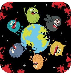 Cute monsters of apocalypse vector image vector image