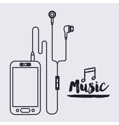 mobile music design vector image vector image