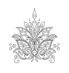 Ornate dainty vintage floral motif vector image vector image