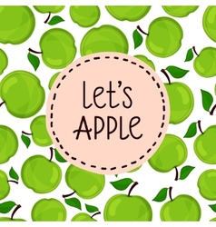 Seamless pattern of apples vector image vector image