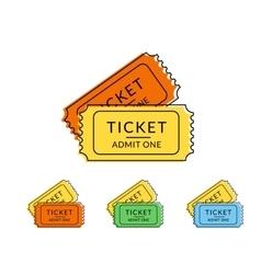 Two retro tickets vector image vector image
