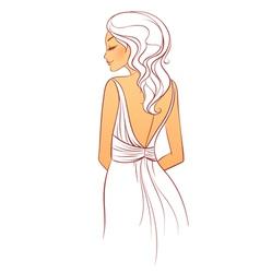 back dress vector image vector image