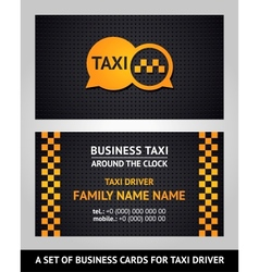 Business cards - taxi vector image