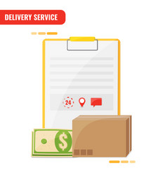 Delivery service receiving order concept blank vector