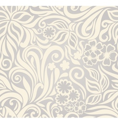 Excellent seamless floral background vector image vector image
