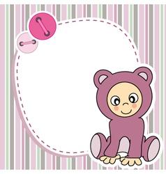 Framework for baby girl vector image vector image