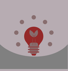 light save planet on ecology style lamp with leaf vector image