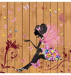 Retro Fairy Invitation Card vector image