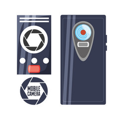 Smartphone with camera to catch good moments vector