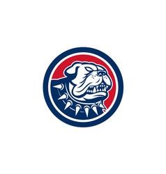 Angry Bulldog Dog Mongrel Head Mascot vector image