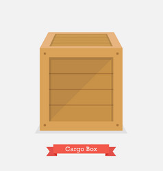 cargo wood box vector image vector image