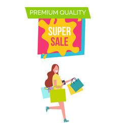 premium quality super sale vector image