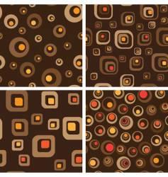 retro seamless background set vector image vector image