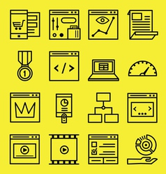 Seo and internet service icons vector image vector image