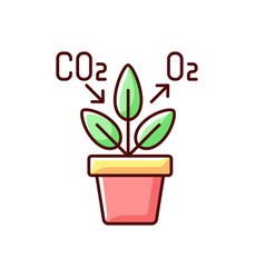 Air purifying plant rgb color icon vector