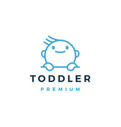 Baby toddler logo icon vector
