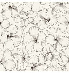 Beautiful hibiscus pattern vector image