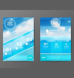 Business brochure flyer design layout template vector