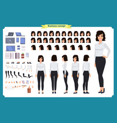 Businesswoman character designbusiness girl vector