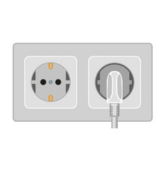 Cartoon gray electric socket vector