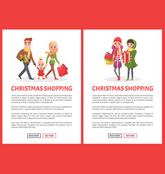 Christmas shopping preparation to winter holiday vector