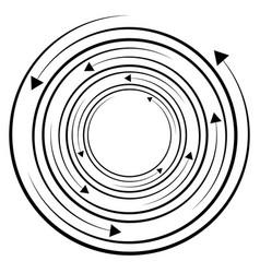 circular concentric arrows cyclic cycle arrows vector image