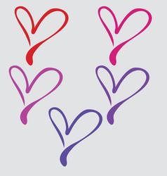 collorfull heart vector image