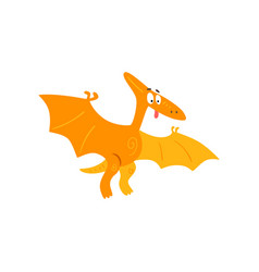 cute cartoon pteranodon dinosaur prehistoric dino vector image