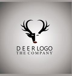 Deer logo ideas design vector