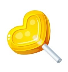 Detailed Icon Heart Lollipop isolated on white vector image