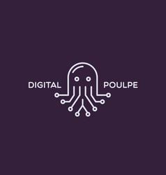 Digital poulpe logo vector