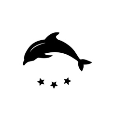 Dolphin logo icon design element vector