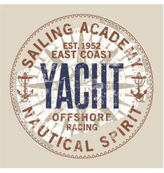 east coast nautical sailing academy vector image