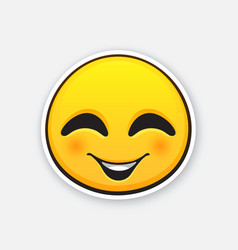 emoticon for expressing emotion joy with smile vector image