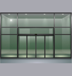 Facade with sliding doors vector