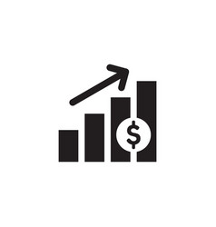Finance exchange graphic growth up black web icon vector
