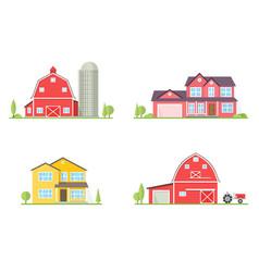 Flat icon suburban american house vector