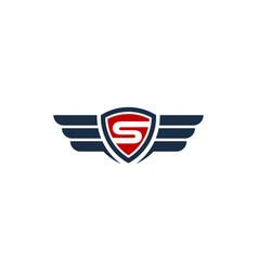 fly shield logo icon design vector image