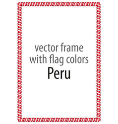 Frame and border of ribbon with the colors peru vector