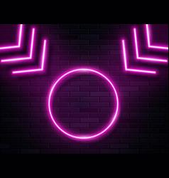 Futuristic sci fi modern neon pink glowing arrows vector