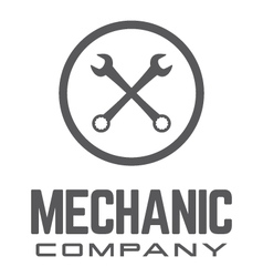Generic wrench logo vector