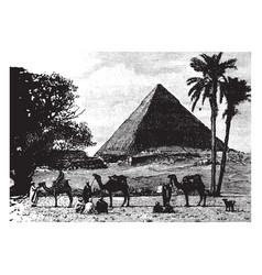 Gizeh pyramid the pyramid of khufu vintage vector