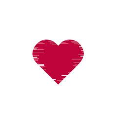 Glitch heart distorted glitch style modern vector