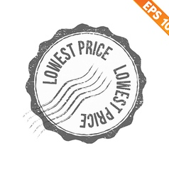 Grunge lowest price guarantee rubber stamp vector