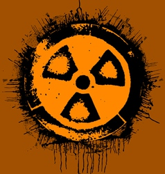 grunge radioactivity warning sign vector image
