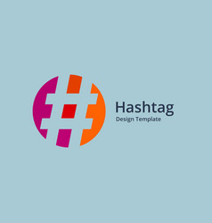 hashtag symbol logo icon design template elements vector image